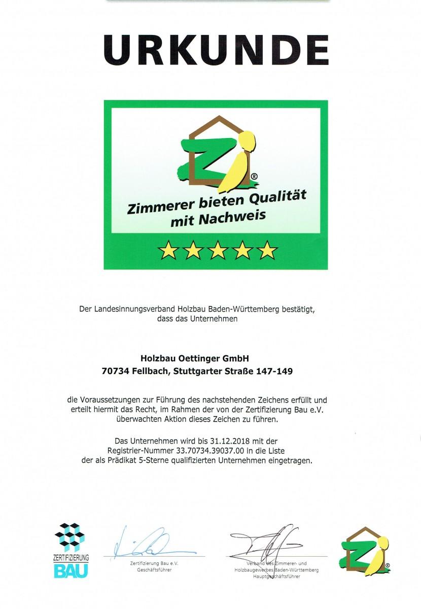 Ausgezeichneter Holzbaubetrieb in Fellbach